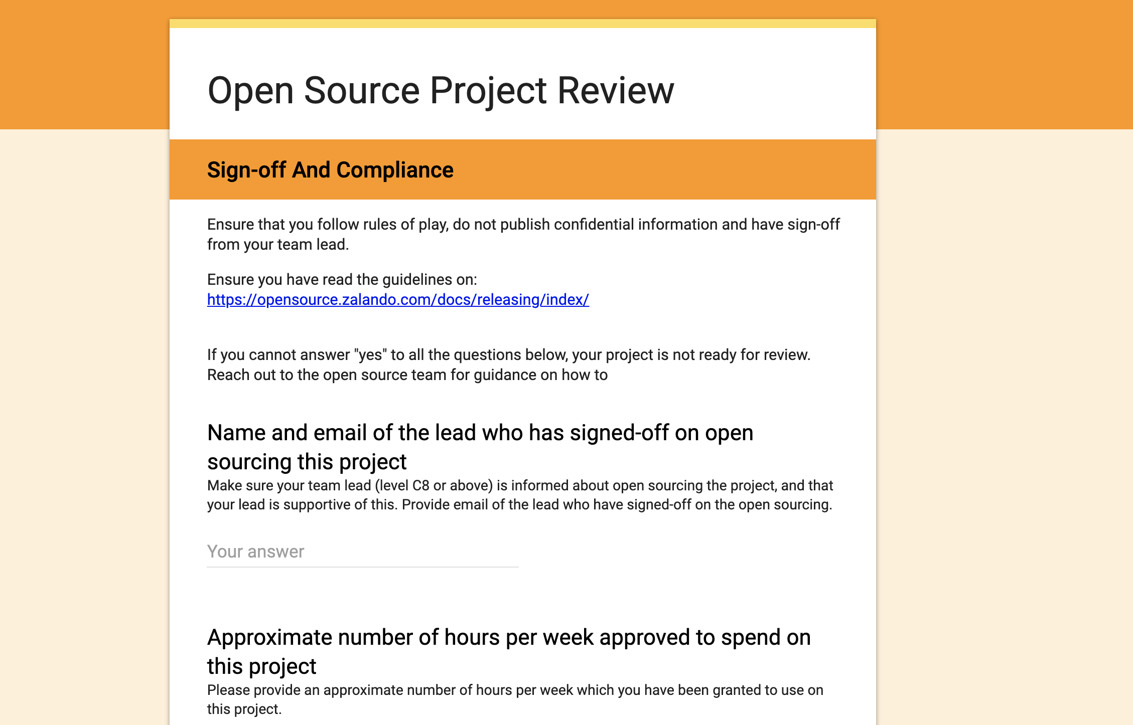 Project Release Form